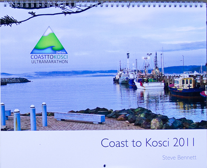 C2K calendar  cover with sunrise at Eden wharf